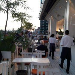 Festejando mi cumple en el Sky Bar terraza del Hotel Pulitzer