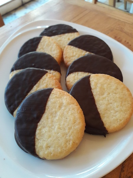 Cookies de limón y chocolate