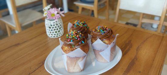 Muffins de Vainilla y Dulce de Leche
